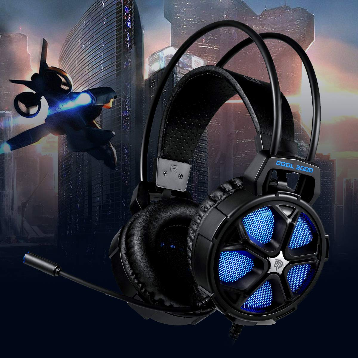 Xbox One 7.1 Surround Sound Over Ear Headset with Noise Cancelling ...