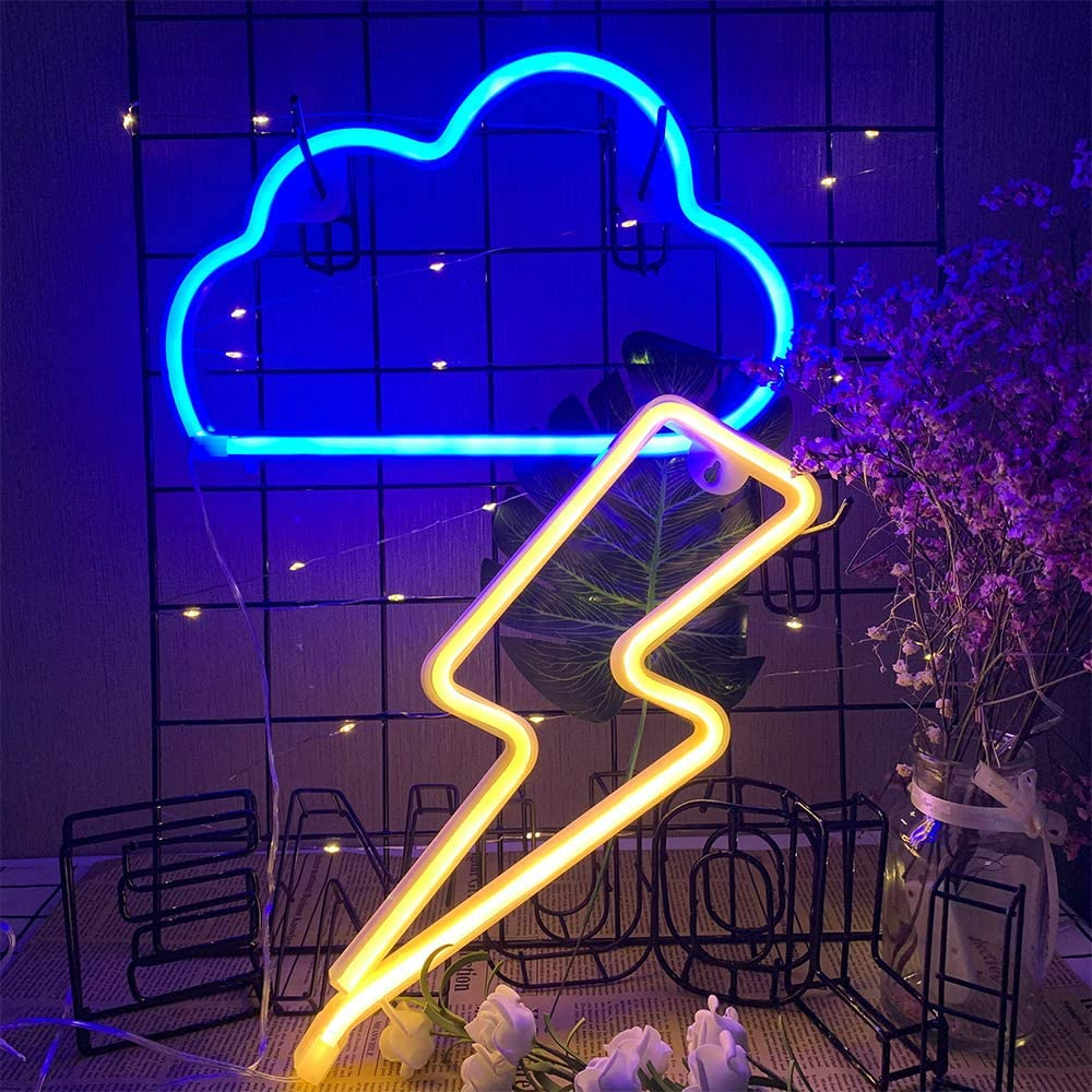 ENUOLI Nuvola e Luci al neon Colore blu-ning.