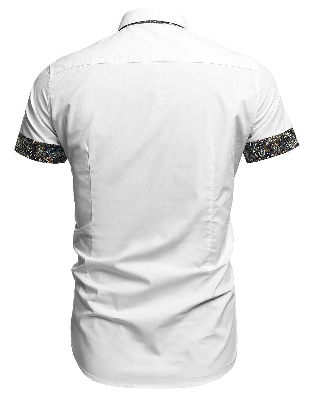 Yealsha Designer Shirts Mens Casual Shirts Mens Casual Slim Fit