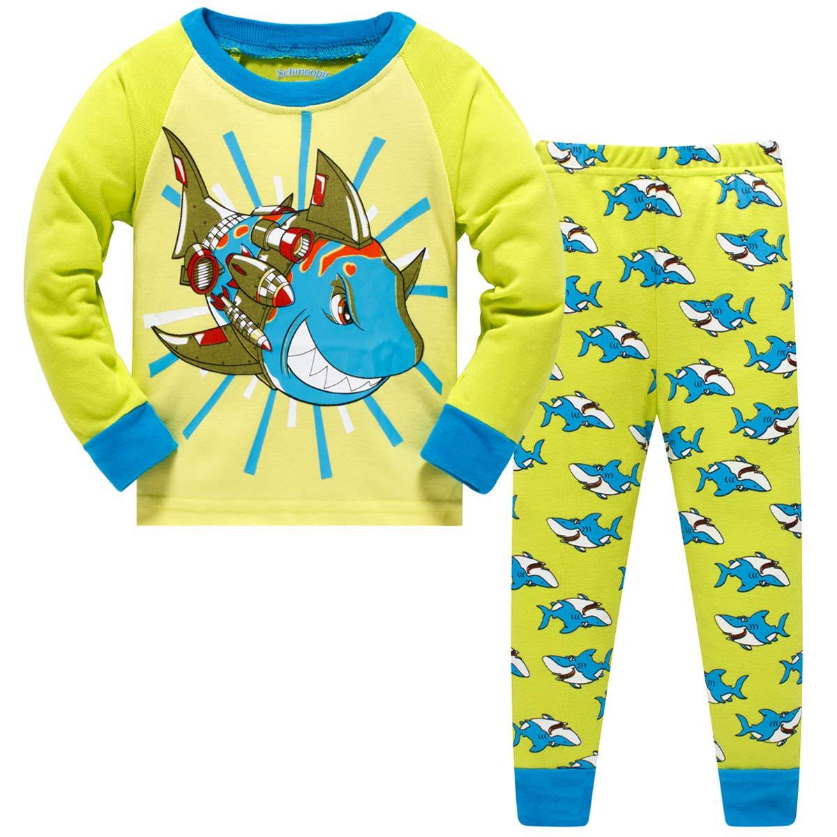 Schmoopy Boys Dinosaur Pajamas 2-8 Years
