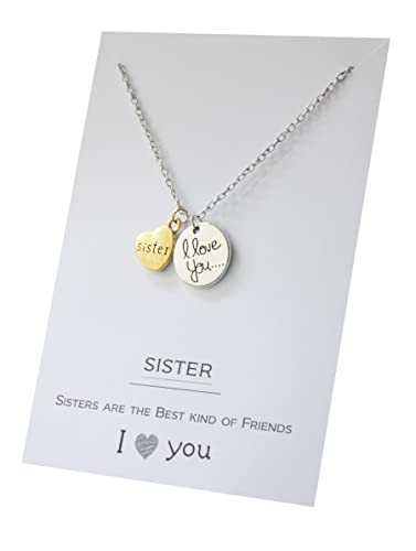VIY Personal Card Hermana I Love You Best Friends Dos Piezas ...