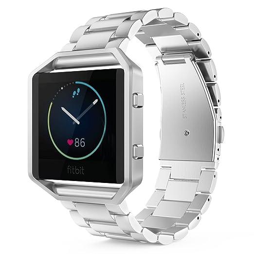 4 opinioni per MoKo Fitbit Blaze Watch Bracciale, Cinturino in Acciaio Inossidabile con Molla