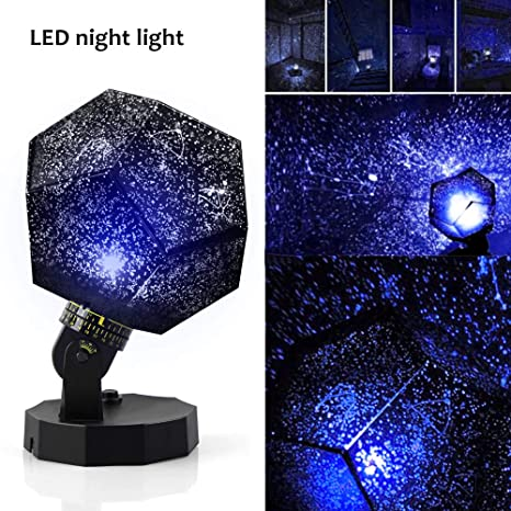 Sunnec Diy Night Light Baby Star Projector Star Sky Night Light Multicolor Changing Lighting Led Starry Rotating Projection Lamp Gift For Kid