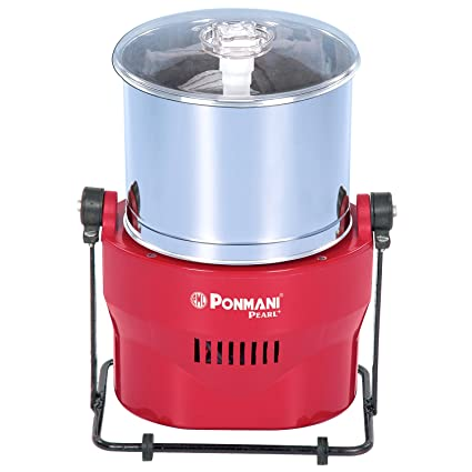 Ponmani Pearl Plus 1.25 Litres Table Top Wet Grinder (Red)