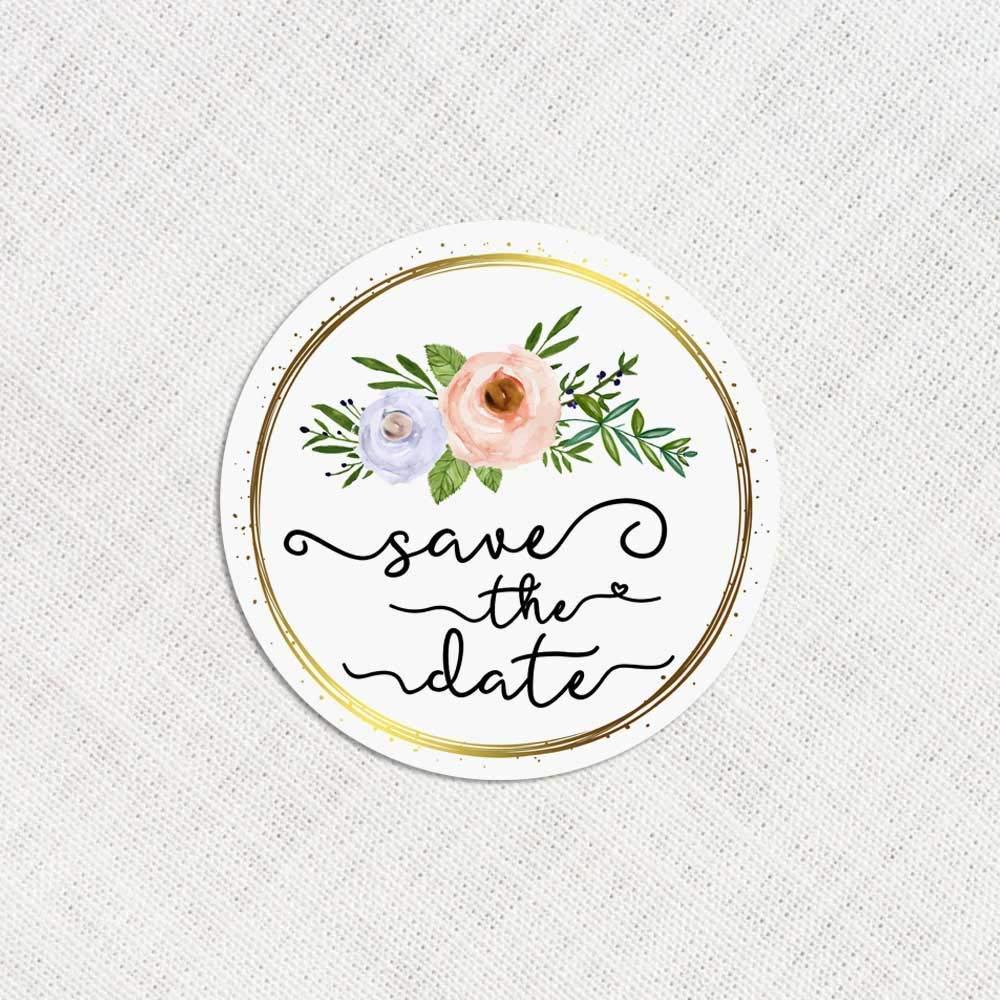 120 x Save The Date Stickers Wedding Invitation Stickers Bouquets Envelope Labels Wedding Decor Labels Floral Wedding Seals 71E4SCIzUeL
