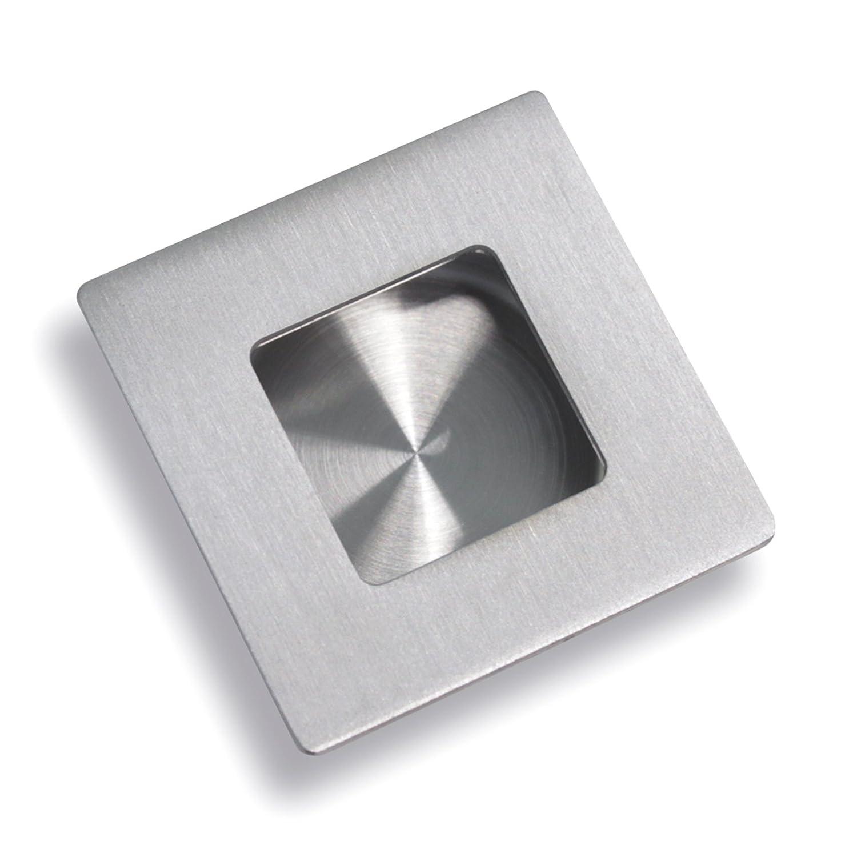 Muschelgriff Vertieft Flush Pull Schiebet/ürgriff echt Edelstahl kreisf/örmig Durchmesser 50mm MH005SS50