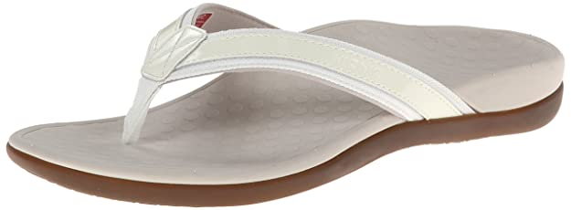 Vionic Orthaheel Tideii Women Slide In Orthopedic Sandals (10 B(M) Us, White) best women's flip flops for plantar fasciitis