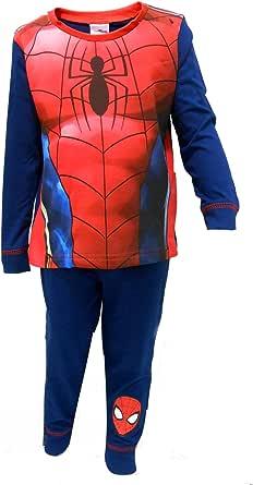 Cartoon Character Products Marvel Spiderman - Pijama de disfraz, top con manga larga y pantalón largo para niños