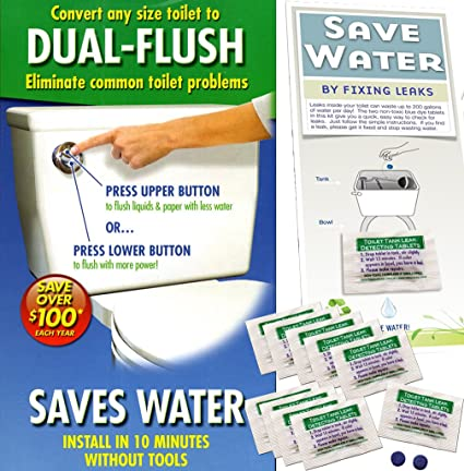 Dual-flush Toilet Saver with 20 Leak Detecting Tablets Hydroright Premium Toilet Flush System   Upgrade - Toilet And Urinal Parts - Amazon.com