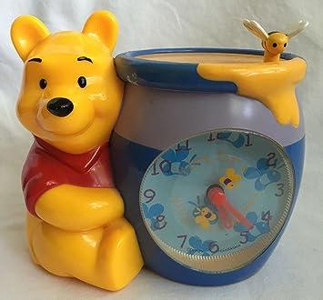 amazon com winnie the pooh honey jar clock alarm clock disney by
