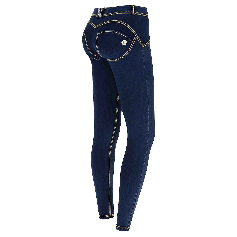 FREDDY Pantalone WR.UP/® Skinny Vita e Lunghezza Regular in Jersey Effetto Denim
