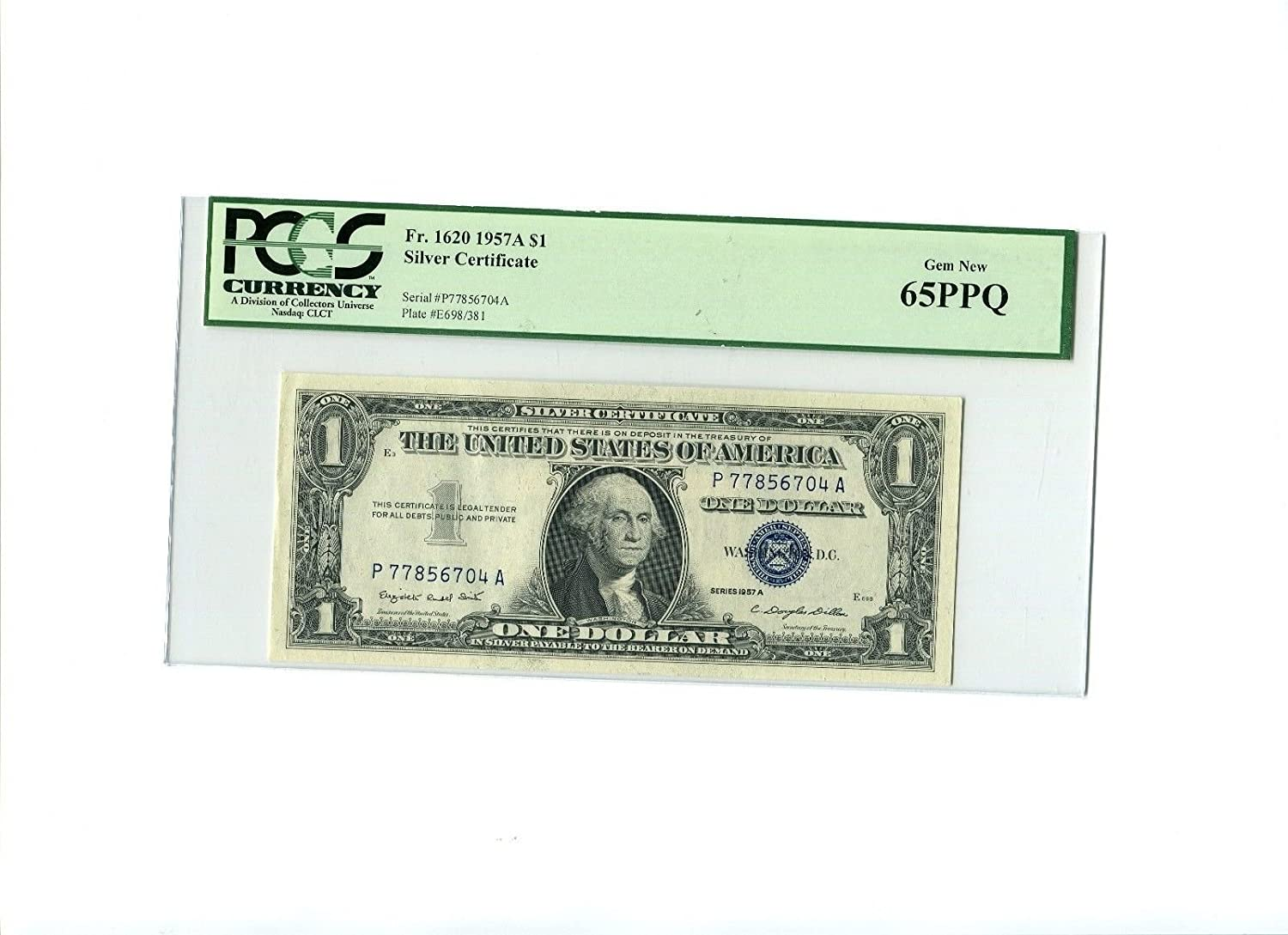 Amazon 1957a 1 Silver Certificate Pcgs Ms65ppq Office Products