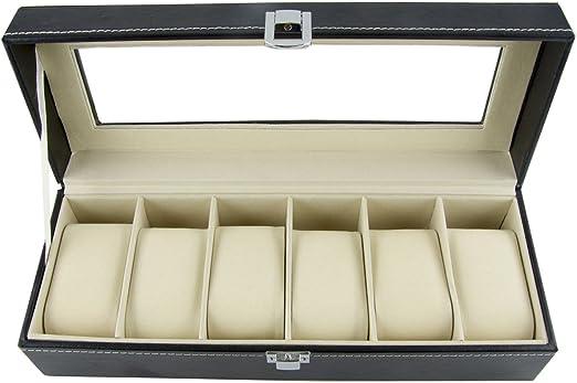 DoubleBlack Caja para 6 Cuadrícula Reloj: Amazon.es: Hogar