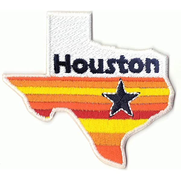 Embroidered Retro Vintage Style I Love Houston TX Texas State Patch Iron On USA