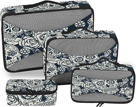 4 Set Packing Cubes Travel Luggage Packing Organizers Dot Elephant