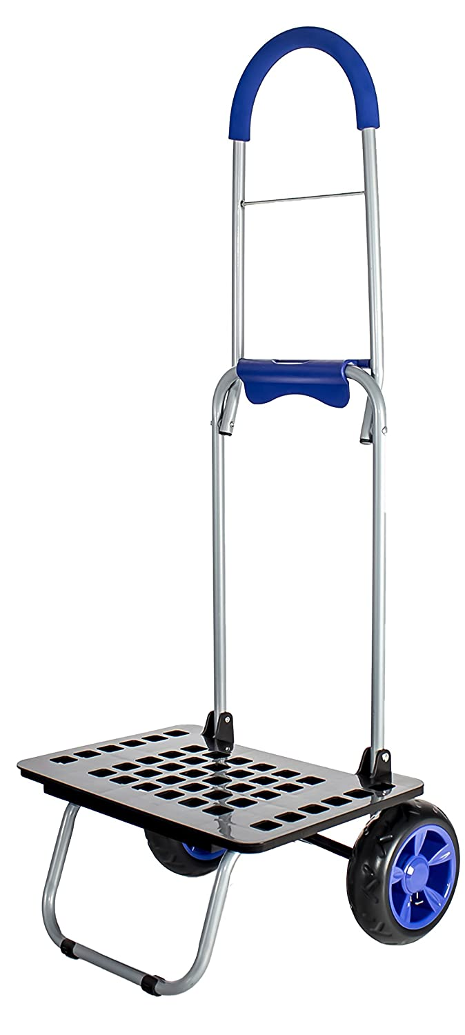 dbest products Bigger Mighty Max Dolly Cart, Blue Handtruck Hardware Garden Utilty Cart