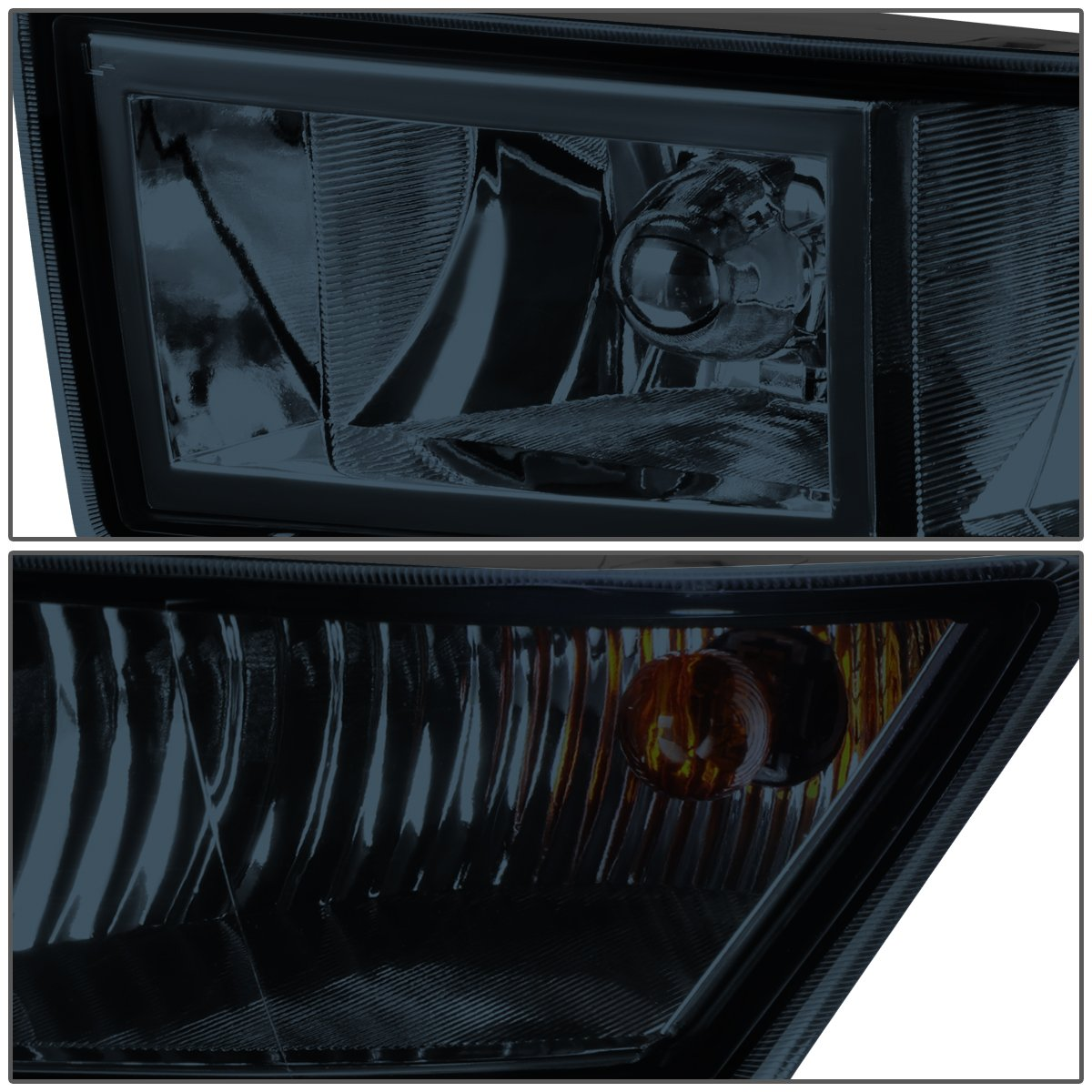 Driver /& Passenger Side DNA Motoring Clear FL-ZTL-801-CH Fog Light Assembly