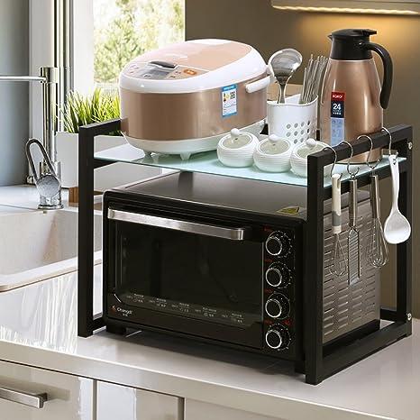 Amazon.com: Soporte para horno de microondas con ganchos ...