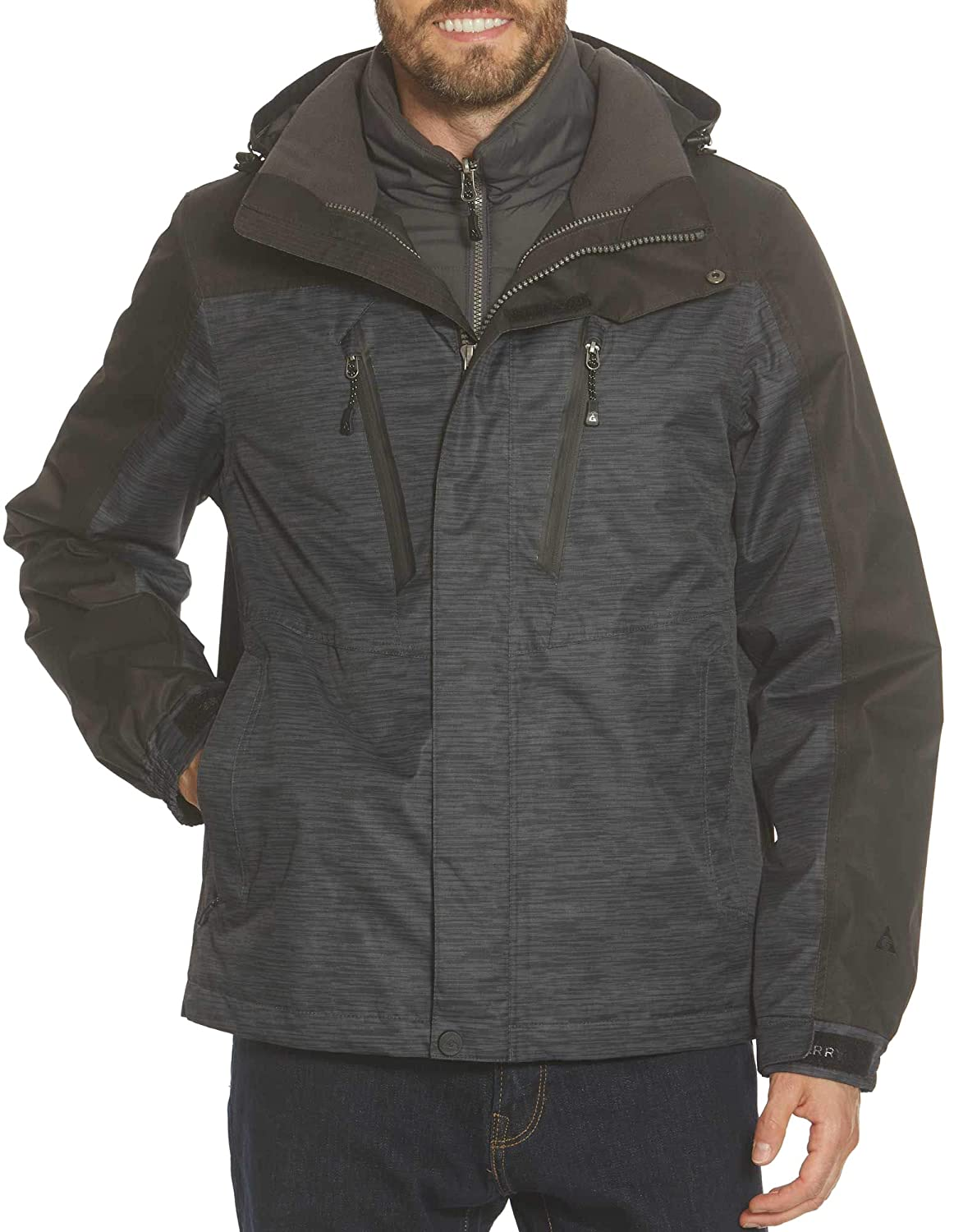 ebf692f01 Gerry Men's Crusade 3-in-1 System Jacket at Amazon Men's Clothing store:
