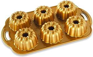 Nordic Ware Anniversary Bundtlette Pan, One Size, Gold
