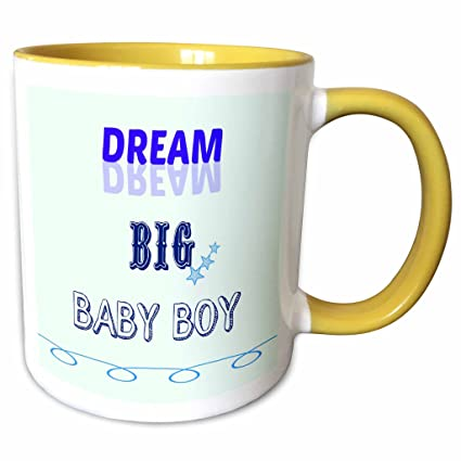 Amazon.com: 3dRose RinaPiro - Funny Quotes - Dream big baby ...
