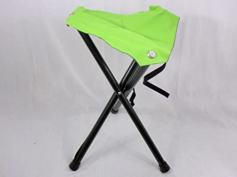 Wonderful Lime Green 3 Legged Folding Aluminum Disc Golf Stool