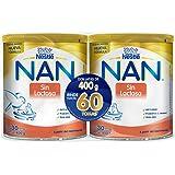 NAN Duo Pack sin Lactosa, 400 gr x 2
