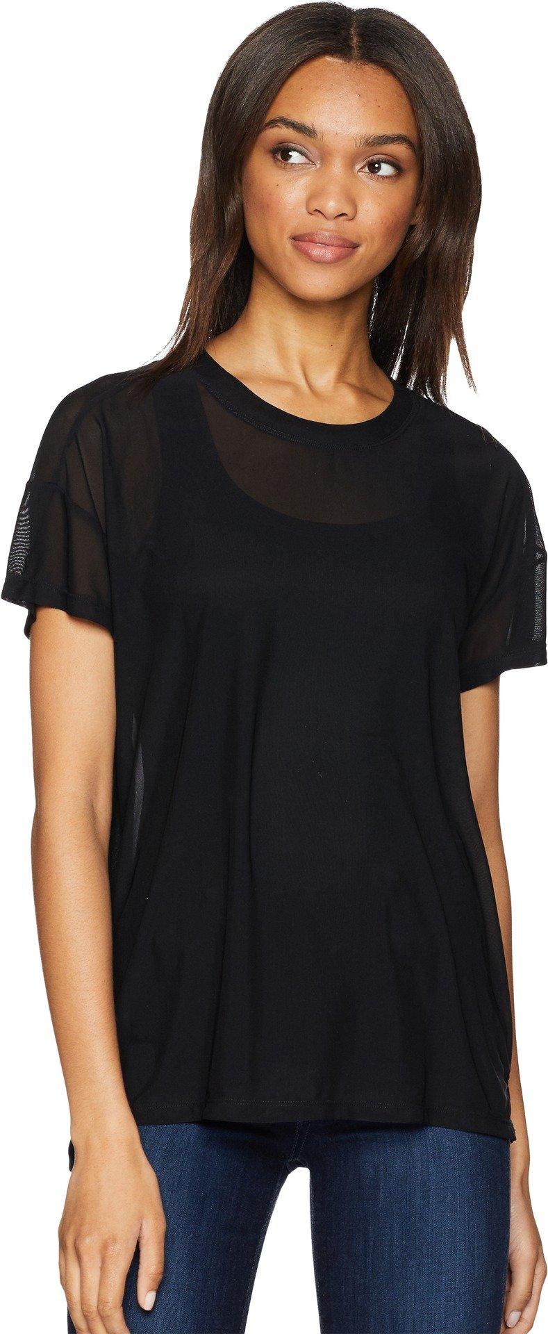 UNIONBAY Women's Fine Mesh Top, Black, Large