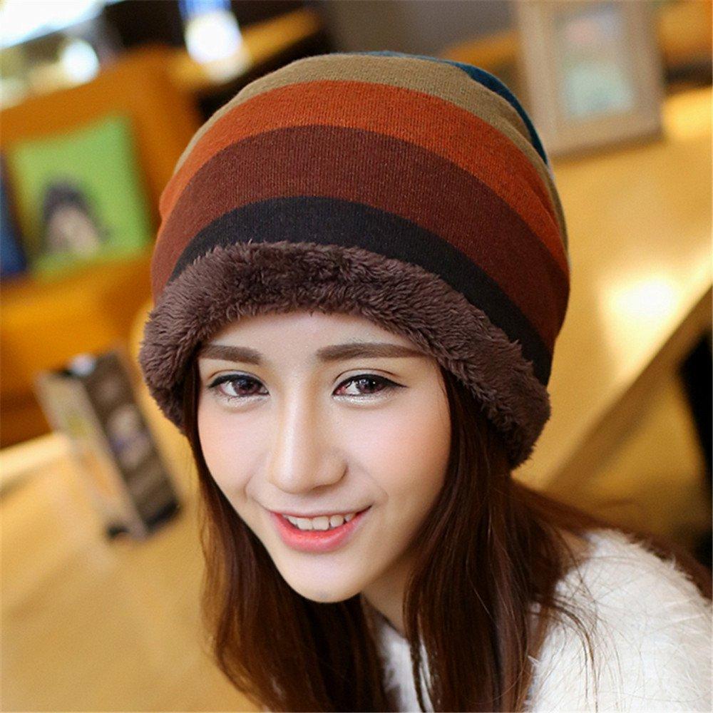 Un sombrero de mujer Dama tapa juego invierno cálido orejeras gorro de punto casual cute cashmere in...