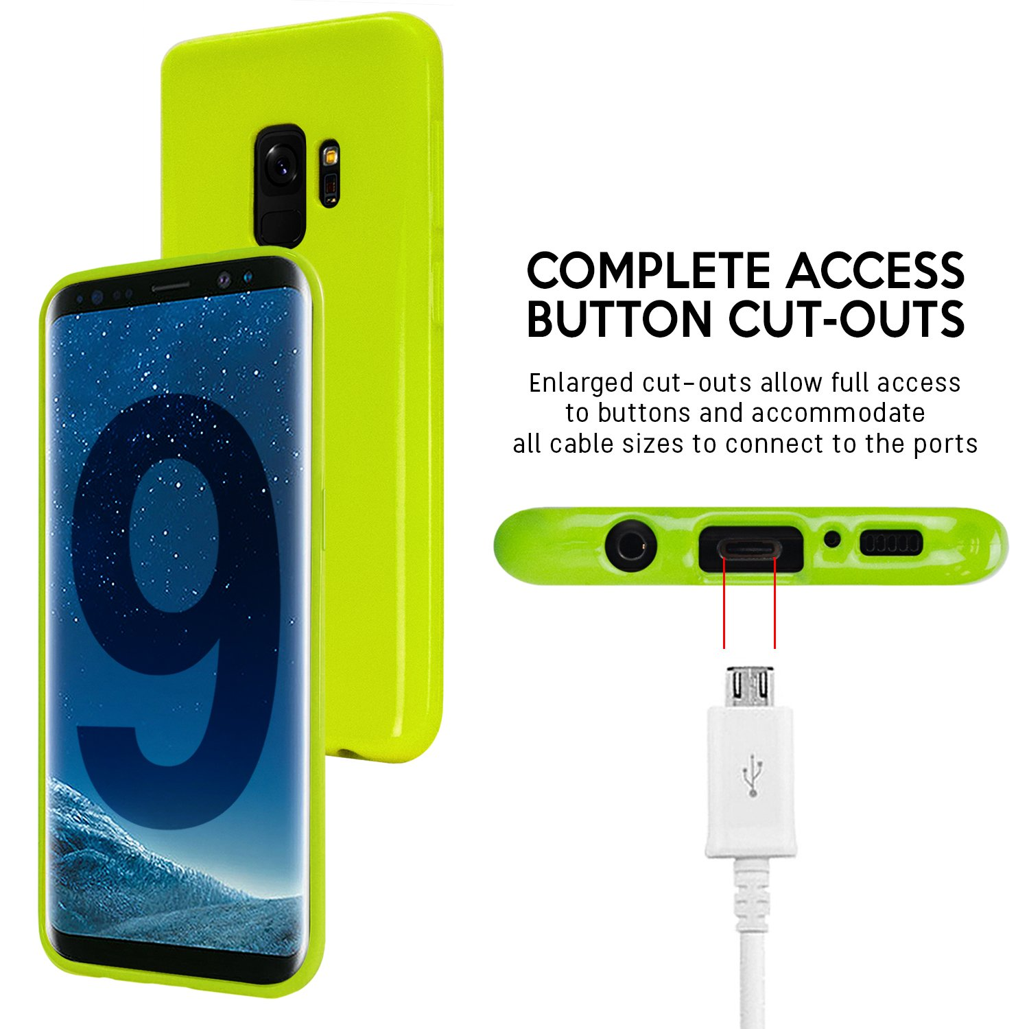 Galaxy S9 Case Thin Slim Goospery Flexible Pearl Iphone 7 Plus Sky Slide Bumper Lime Jelly Rubber Tpu Lightweight Cover Impact Resistant For Samsung