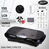 Genki Ultra Slim Vibration Machine Plate Platform Body Shaper Trainer Exercise Fitness, Max User Weight 353LB