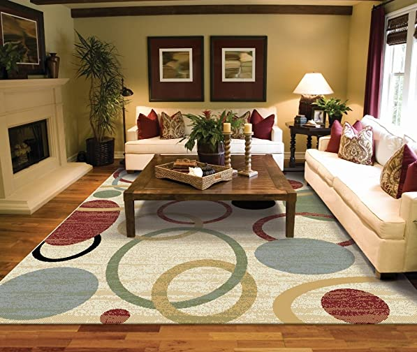 Large Rugs for Living Room 8x11 Cream Area Rugs 8x10 Under 100