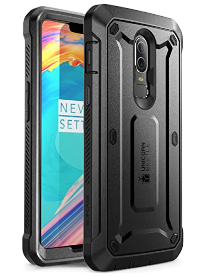 best website 5b6e9 d3235 SUPCASE [UB PRO Case for OnePlus 6,Full-Body Rugged Drop-Proof Case with  Built-in Screen Protector and Rotating Belt Clip Holster for OnePlus 6 Case  ...