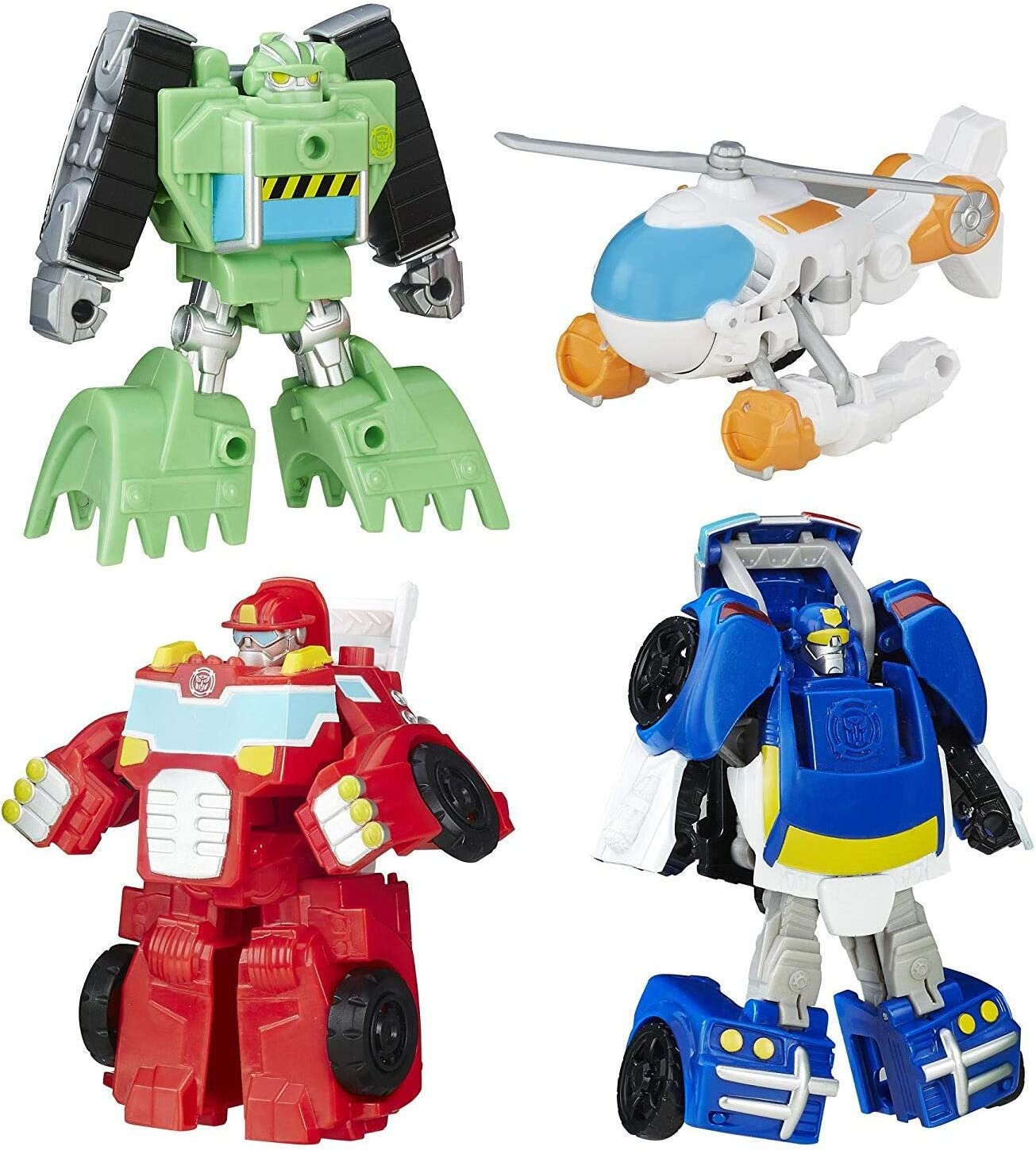 Amazon Com Playskool Heroes Transformers Rescue Bots Griffin Rock Rescue Team Toys Games