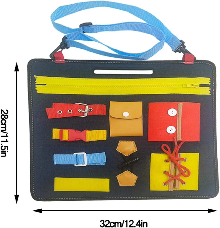 Jouet /Éducatif Pour B/éb/é 1-6 Ans- 32X28X22.6 Cm Boucle Bouton Planche Dapprentissage Montessori Montessori Bebe Planches Dapprentissage Panneau De Feutre Dapprentissage Pour Apprendre /À Zipper
