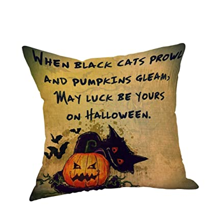 Buy Sunward Women s Halloween Throw Pillow Case Sofa Waist Throw Cushion  Cover Home Decor Large A Online at Low Prices in India - Amazon.in 7f9e80318c
