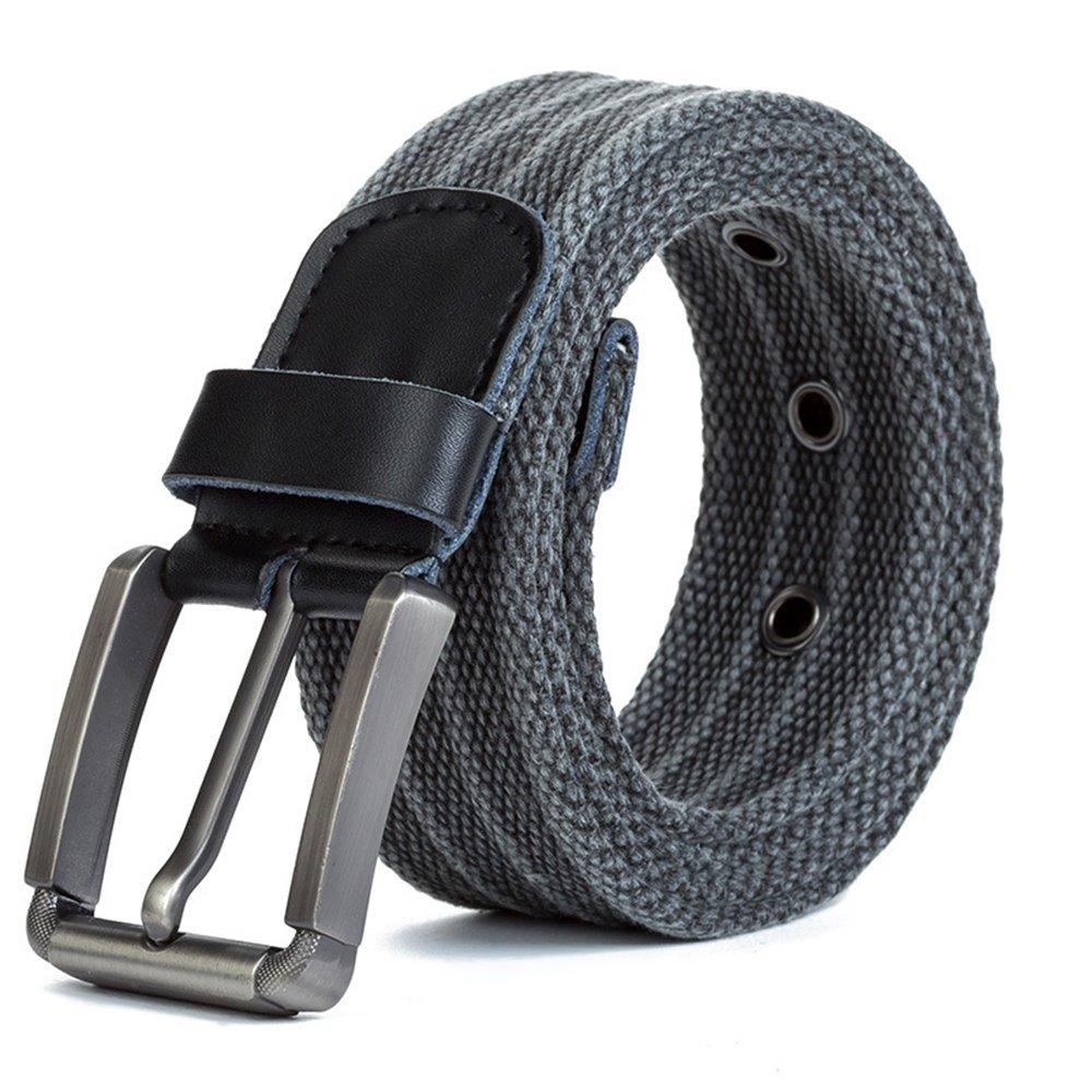 Canvas Web Belts for Men, ITIEZY Casual Webbing Belt 1.5'' Width with Pin Buckle