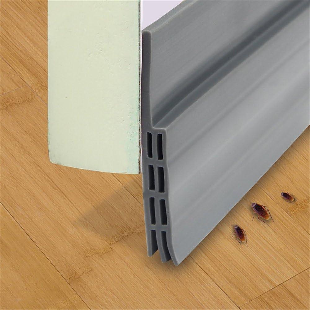 red Width Approx. Door Seal Strip Wind Strip-Black Under Door Sweep Weather Stripping Door Bottom Seal Strip Door Draft Stopper