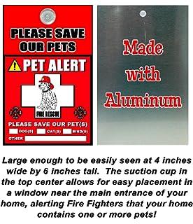 Pet Alert  Decal Window Clings Amazonca Pet Supplies - Window decals for birds canada