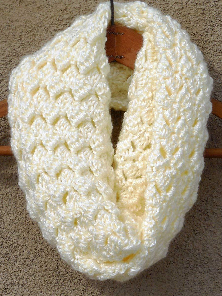 Amazon Off White Warm Criss Cross Cowl Scarf Crochet Handmade