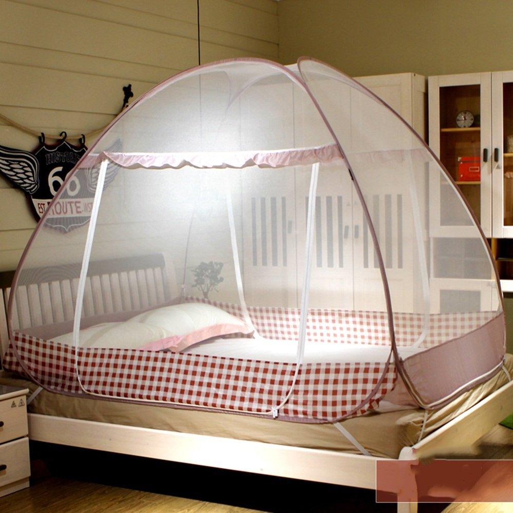 Moskitonetze MEIDUO Yurts Drei offene Tür Reißverschlüsse Home 4 Farben