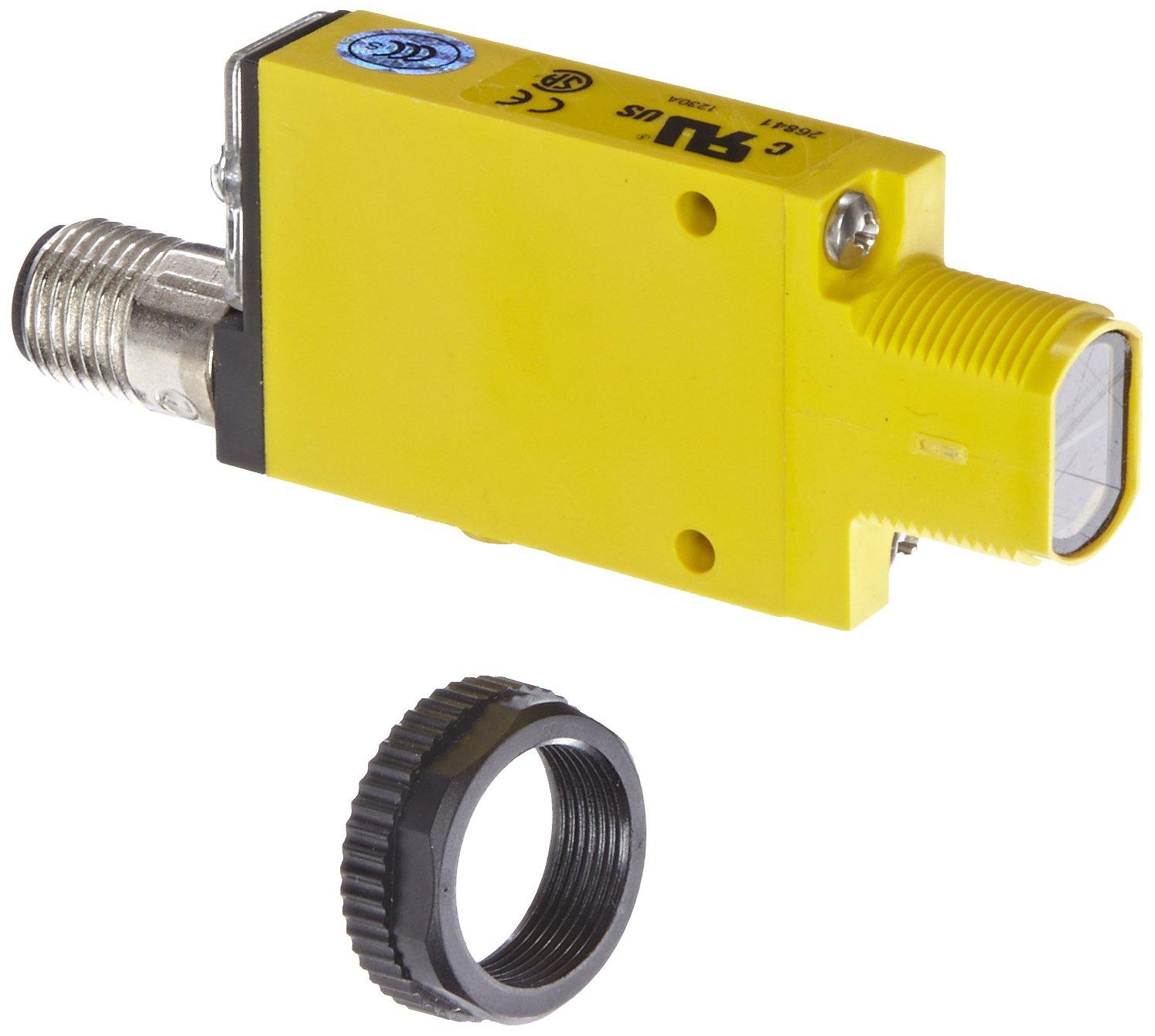 Banner SM2A312DQD Mini Beam AC Photoelectric Sensor, Infrared LED, Diffuse Mode, 380mm Range