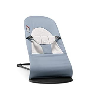 BABYBJÖRN Bouncer Balance Soft, Cotton/Jersey, Blue/Gray