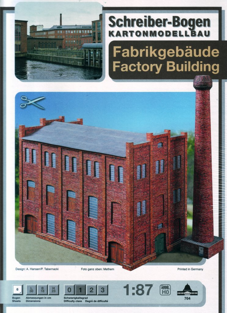 image regarding Free Printable Model Railway Buildings titled Schreiber-Bogen Card Modelling Manufacturing unit Coming up with: