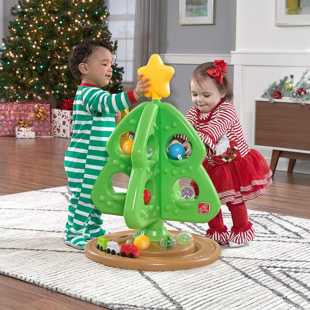 Amazon.com: Step2 My First Christmas Tree with Bonus Ornaments: Toys ...