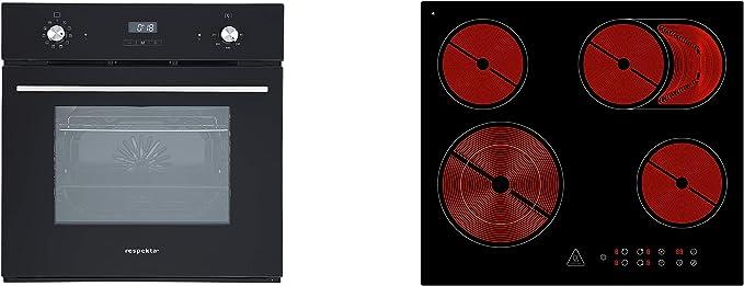 respekta - Juego de horno y placa vitrocerámica (aire caliente): Amazon.es: Grandes electrodomésticos