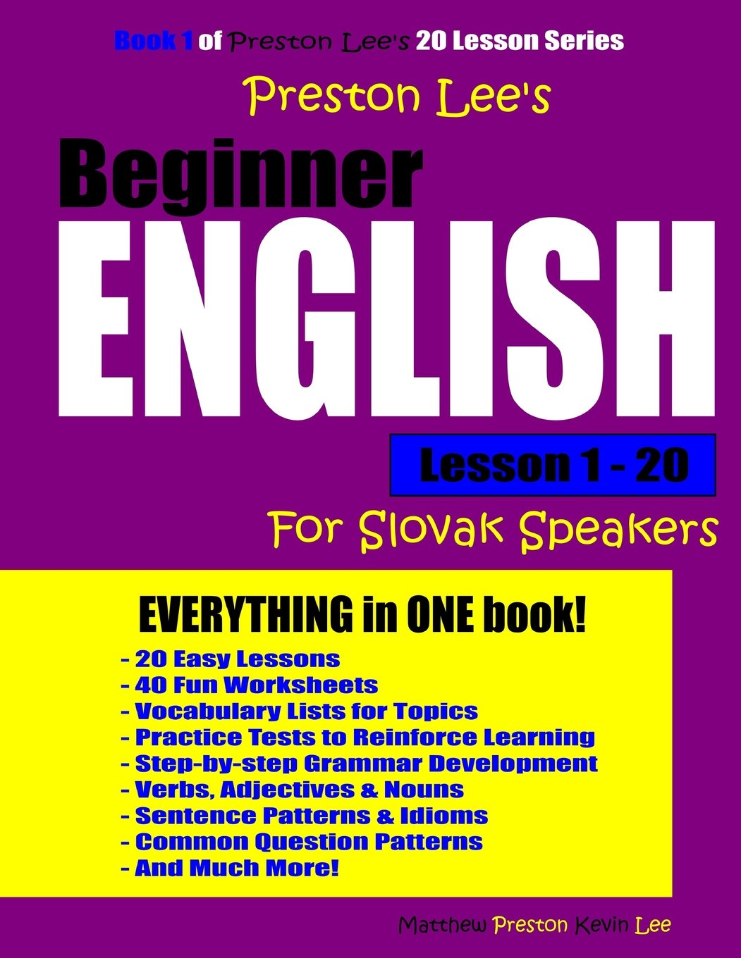 Read Online Preston Lee's Beginner English Lesson 1 - 20 For Slovak Speakers pdf epub