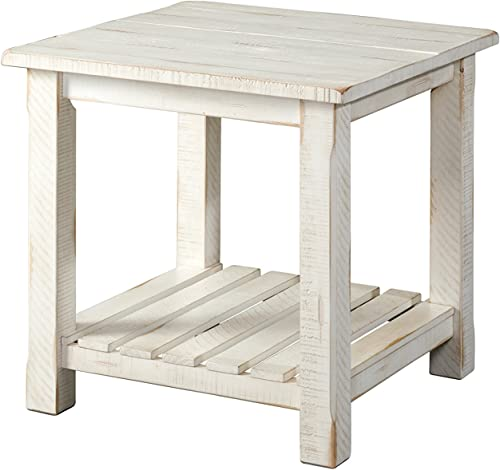 Martin Svensson Home Barn Door End Table, Antique White