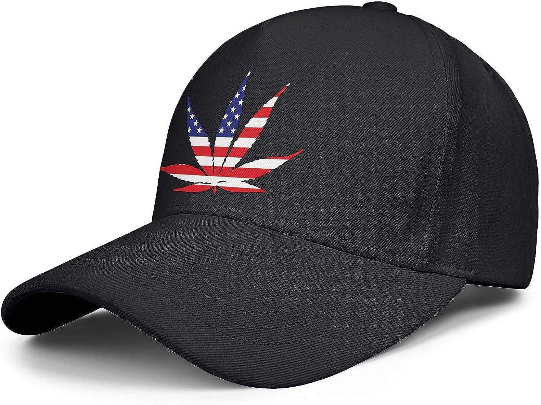 American Flag Pot Leaf Marijuana Freedom Unisex Baseball Cap Soft Fit Running Hats Adjustable Trucker Caps Dad-Hat