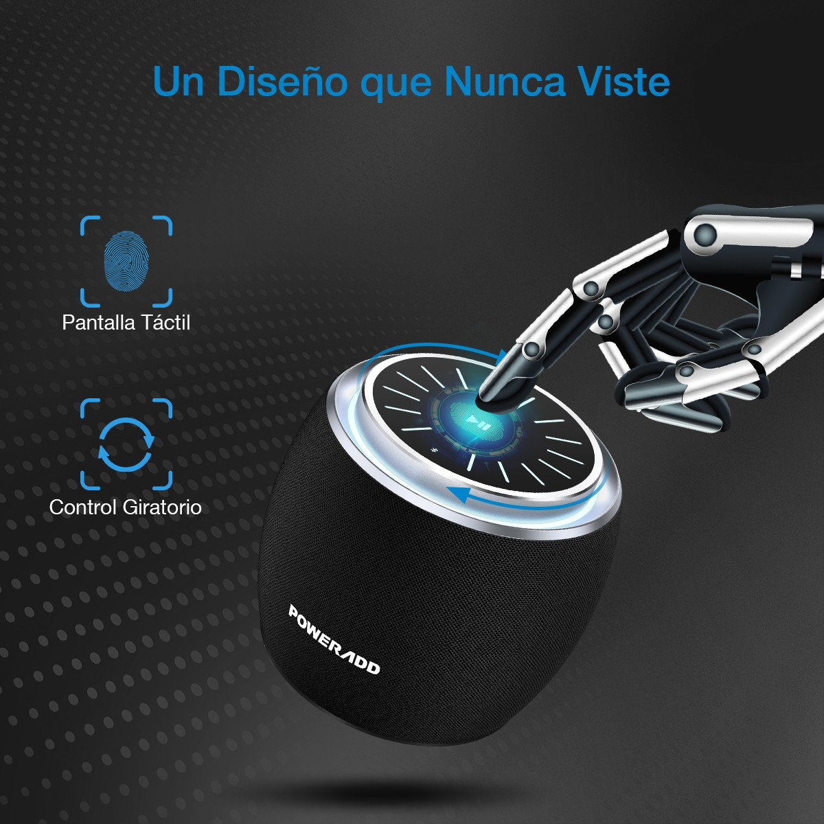 Poweradd DEE-G Mini Altavoz Inalámbrico Portátil, 7W Wireless Bluetooth 4.2, 3D Sonido Digital con 8 Horas de Emisión Continua Compatible con Android, Windows, iOS, con AUX Cable.